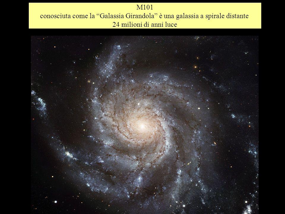 M101 conosciuta come la Galassia Girandola è una galassia a spirale distante 24 milioni di anni luce