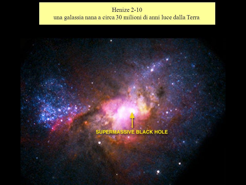 Henize 2-10 una galassia nana a circa 30 milioni di anni luce dalla Terra