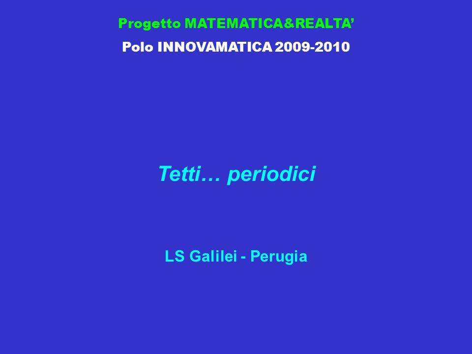 Progetto MATEMATICA&REALTA Polo INNOVAMATICA 2009-2010 Tetti… periodici LS Galilei - Perugia