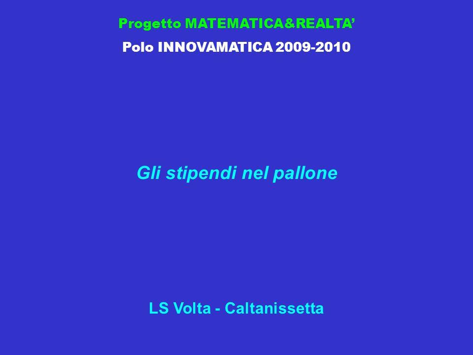 Progetto MATEMATICA&REALTA Polo INNOVAMATICA 2009-2010 Gli stipendi nel pallone LS Volta - Caltanissetta