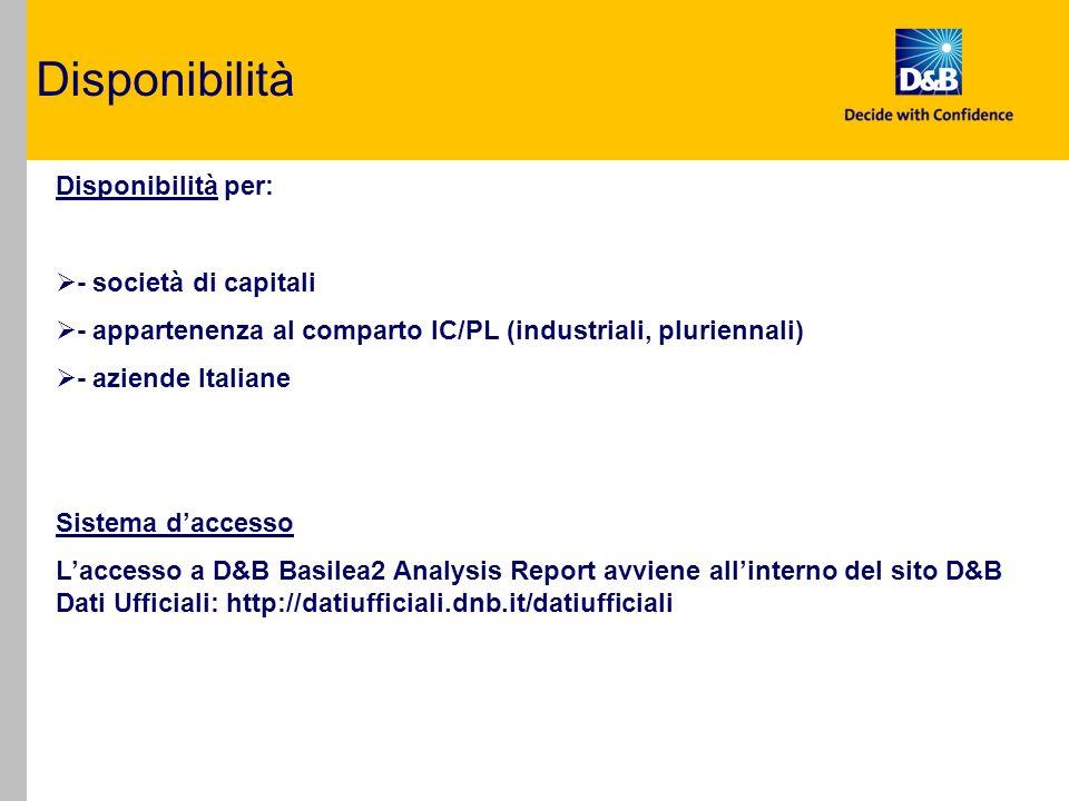 D&B Basilea2 Analysis Report La struttura