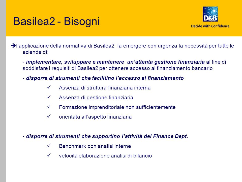 D&B e Basilea2