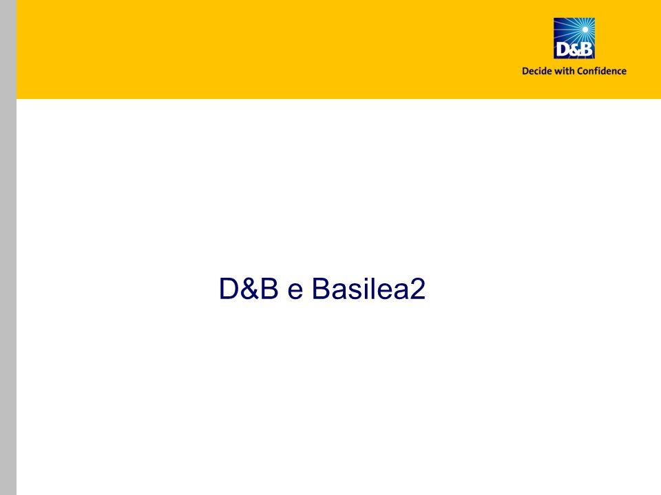 D&B Basilea2 Analysis Report non è un software per lautovalutazione del Rating.