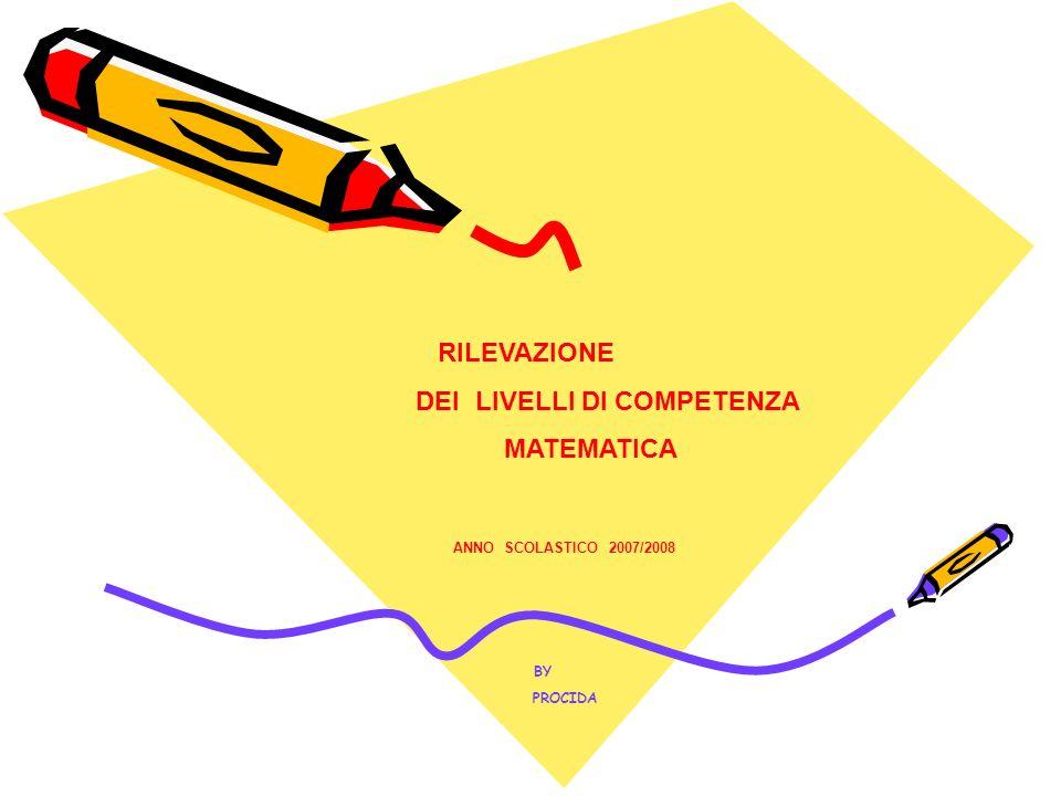 RILEVAZIONE DEI LIVELLI DI COMPETENZA MATEMATICA ANNO SCOLASTICO 2007/2008 BY PROCIDA