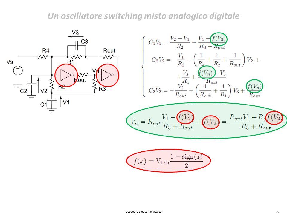 70 Un oscillatore switching misto analogico digitale Cesena, 21 novembre 2012
