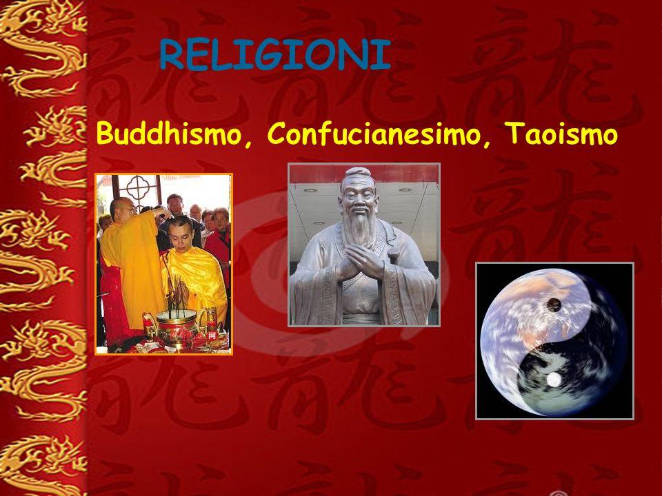 RELIGIONI Buddhismo, Confucianesimo, Taoismo