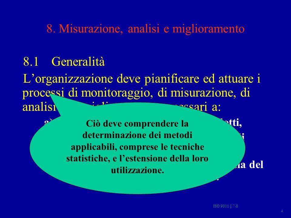 ISO 9001 § 7-8 75 TQM Strumento di Governo RISORSE GESTIONE DEL PERSONALE STRATEGIE E PIANIFICAZIONE LEADERSHIP SISTEMA QUALITA E PROCESSI RISULTATI AZIENDALI SODDISFAZIONE DEL PERSONALE SODDISFAZIONE DEL CLIENTE IMPATTO SULLA SOCIETA