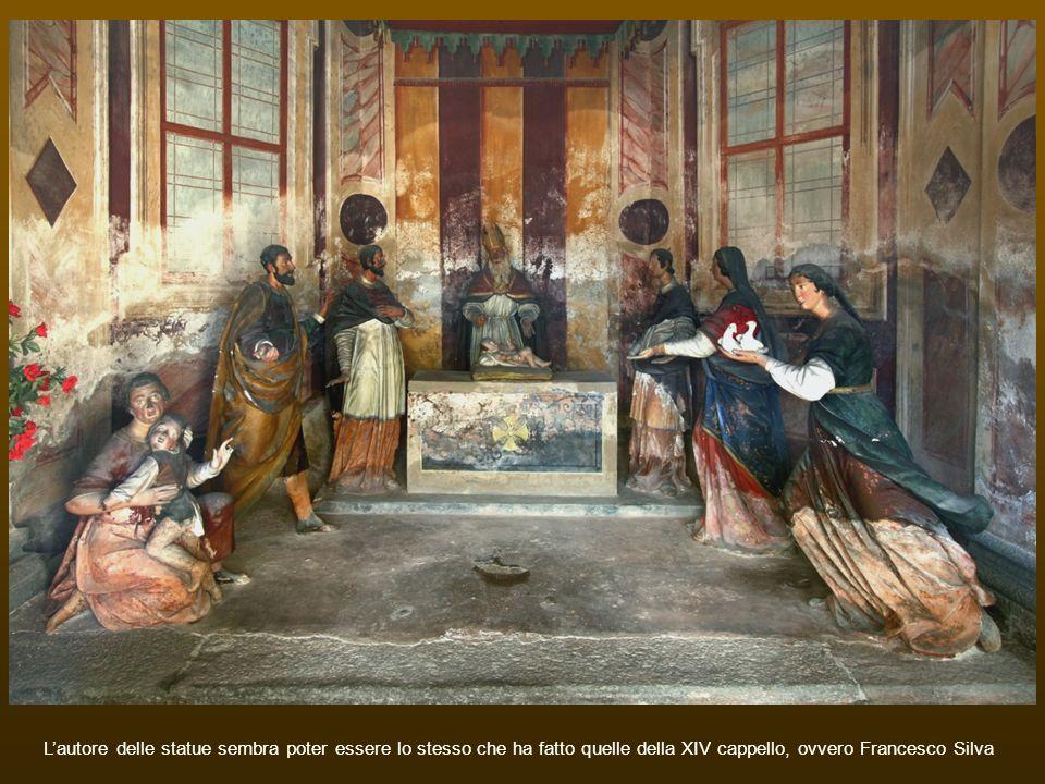 Lautore delle statue sembra poter essere lo stesso che ha fatto quelle della XIV cappello, ovvero Francesco Silva