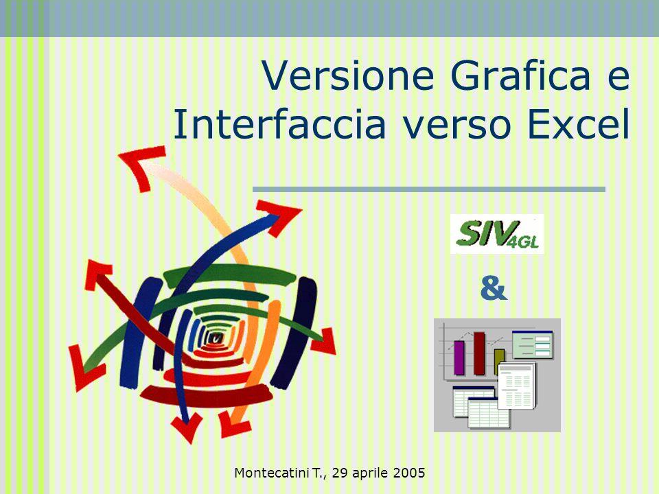 Montecatini T., 29 aprile 2005 Versione Grafica e Interfaccia verso Excel &