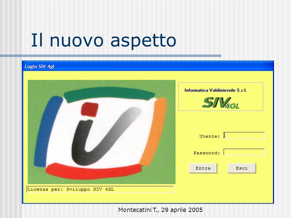 Montecatini T., 29 aprile 2005 Il nuovo aspetto