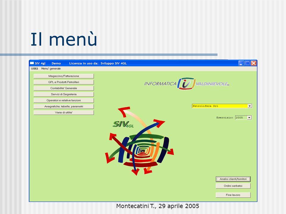 Montecatini T., 29 aprile 2005 Menù a bottoni e a tendina