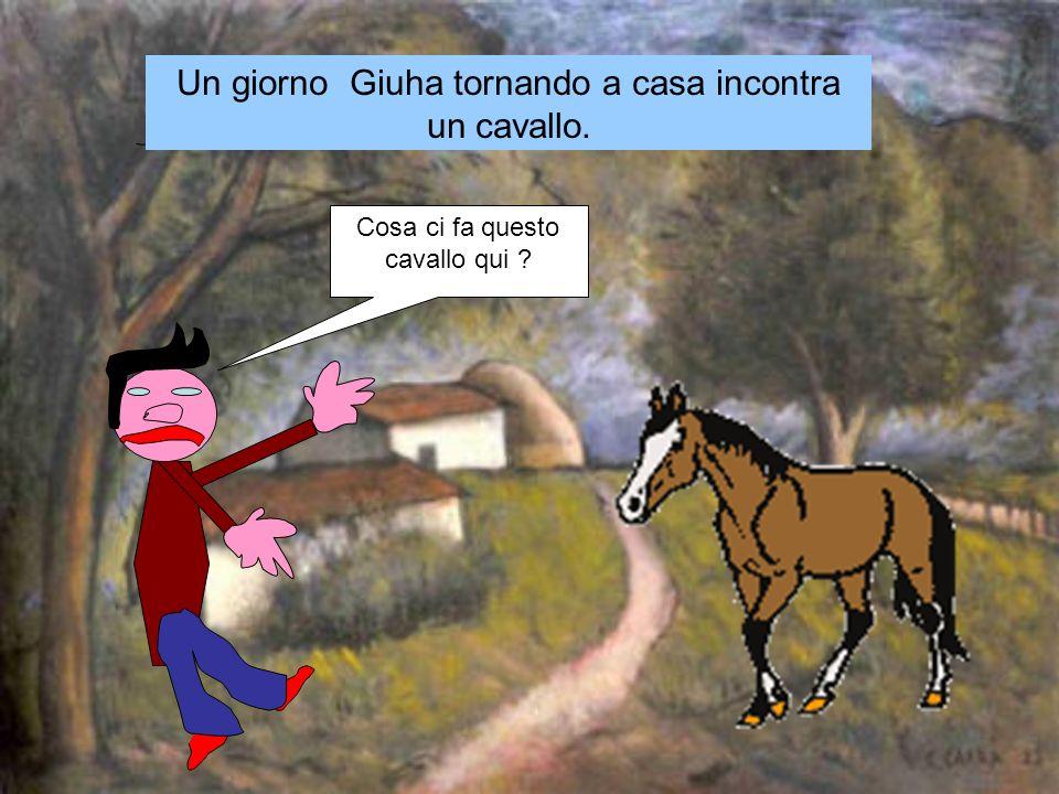 Cosa ci fa questo cavallo qui Un giorno Giuha tornando a casa incontra un cavallo.