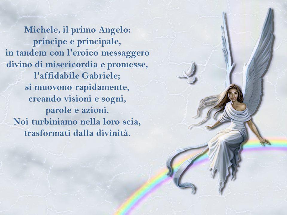 Qualche volta gli Angeli custodi della vita volano cosi in alto da essere fuori vista; ma sempre guardano giù, verso di noi.