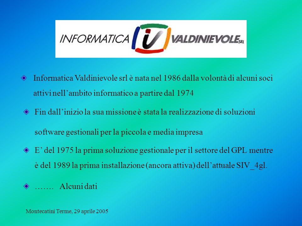 Montecatini Terme, 29 aprile 2005 Fin dallinizio la sua missione è stata la realizzazione di soluzioni software gestionali per la piccola e media impr