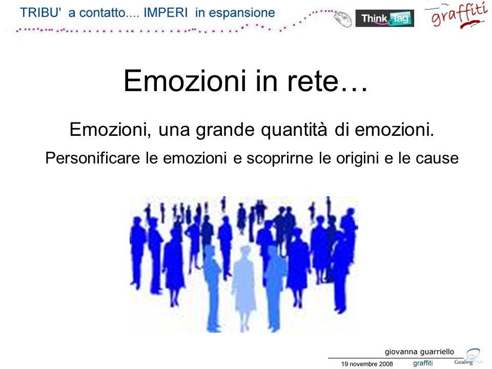 Emozioni in rete… Emozioni, una grande quantità di emozioni.
