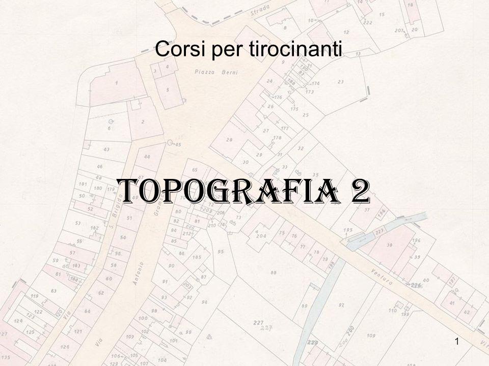1 Corsi per tirocinanti TOPOGRAFIA 2