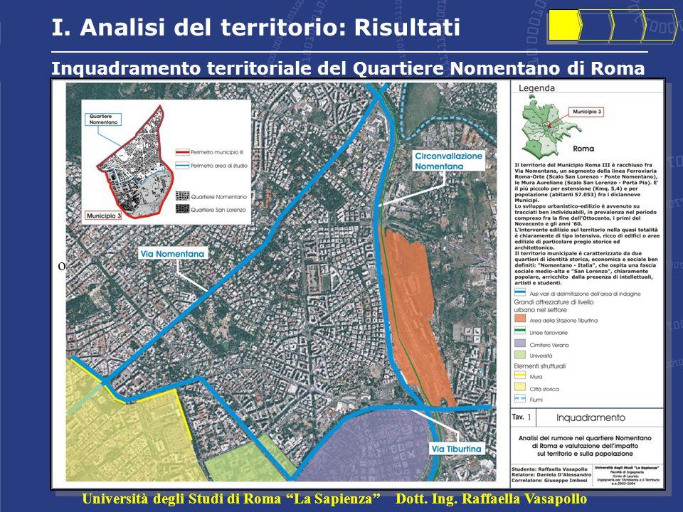 Inquadramento territoriale del Quartiere Nomentano di Roma I.