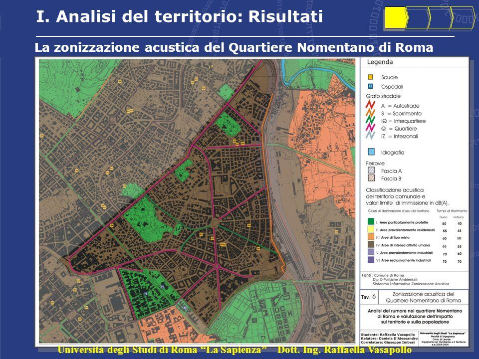La zonizzazione acustica del Quartiere Nomentano di Roma I.