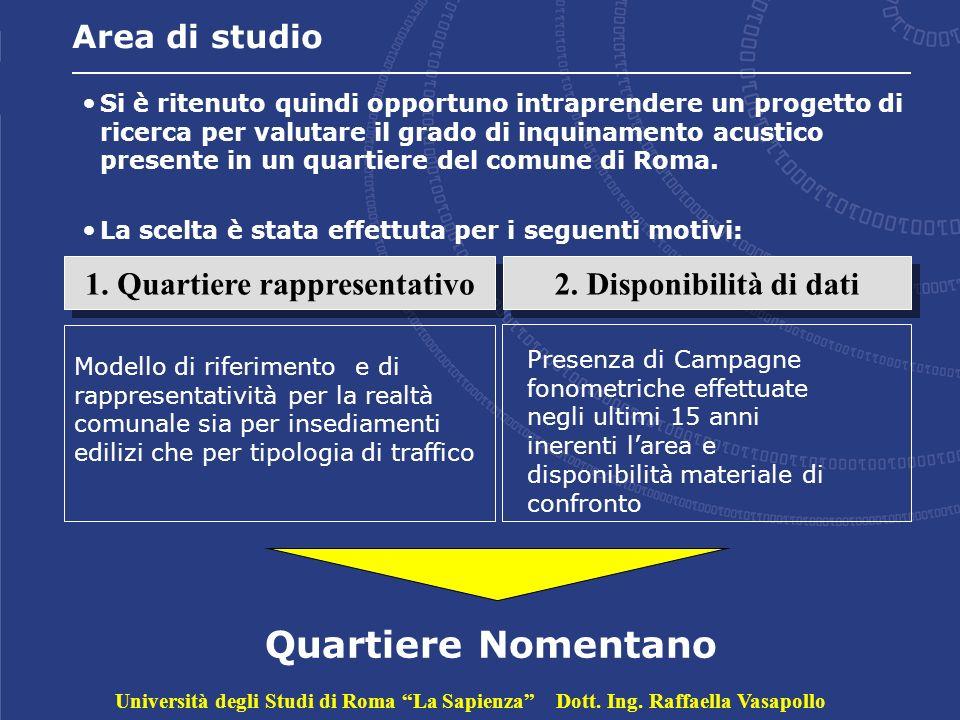 Area di studio Si è ritenuto quindi opportuno intraprendere un progetto di ricerca per valutare il grado di inquinamento acustico presente in un quartiere del comune di Roma.