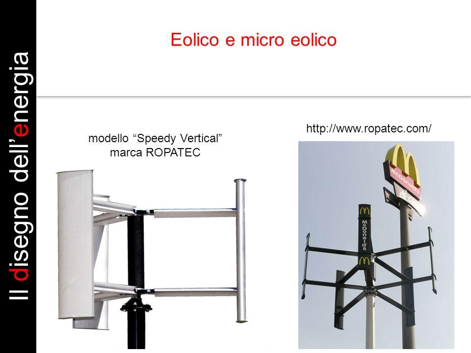 http://www.ropatec.com/ modello Speedy Vertical marca ROPATEC Il disegno dellenergia Eolico e micro eolico