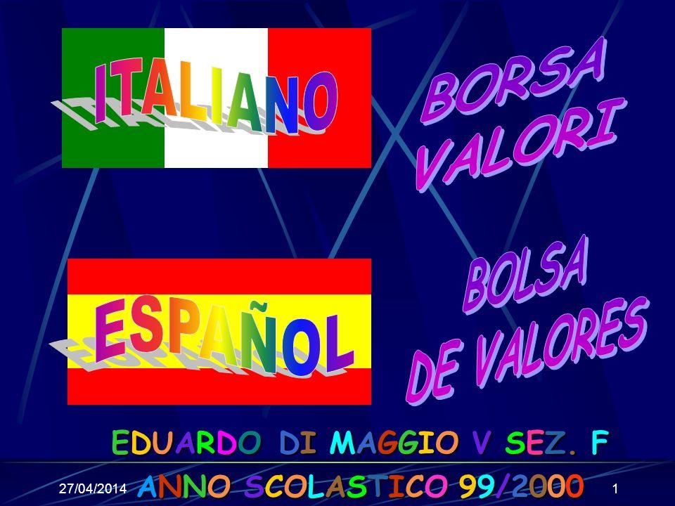 27/04/20141 ANNO SCOLASTICO 99/2000 EDUARDO DI MAGGIO V SEZ. F