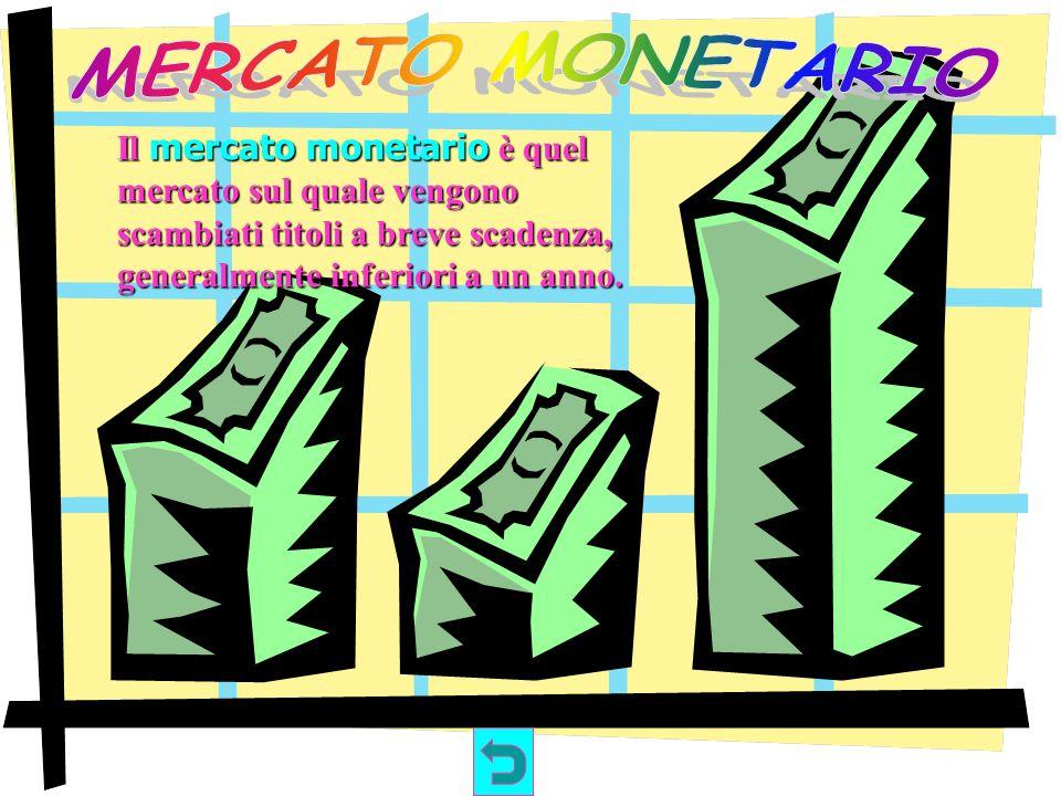 Il mercato dei capitali è quel mercato sul quale vengono scambiate azioni e obbligazioni a medio e lungo termine.