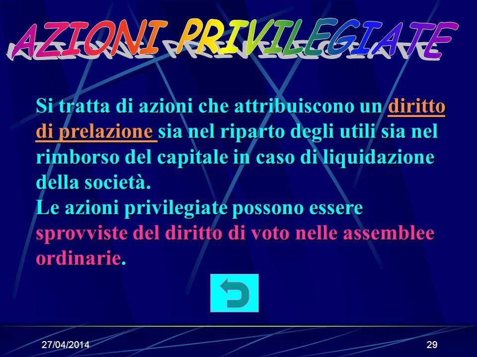 27/04/201428 Per liquidazione si intende la conversione del patrimonio sociale in denaro.