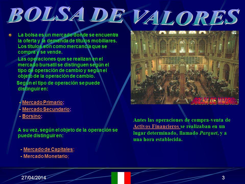 27/04/201473 AUTORE: Eduardo Di Maggio TITOLO: Borsa Valori MUSICA: Footlose AUTOR: Eduardo Di Maggio TÍTULO: Bolsa Valores