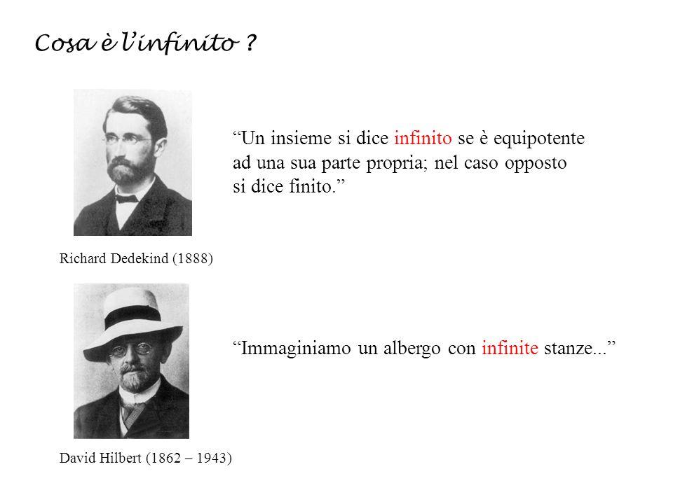 Cosa è linfinito ? Richard Dedekind (1888) Un insieme si dice infinito se è equipotente ad una sua parte propria; nel caso opposto si dice finito. Dav
