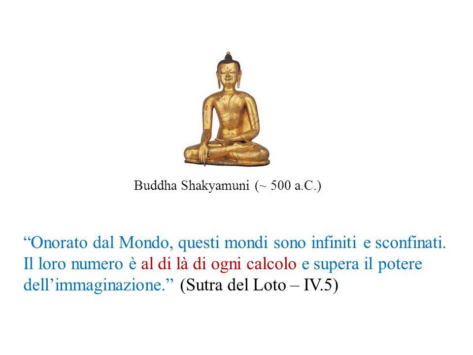 Buddha Shakyamuni (~ 500 a.C.) Onorato dal Mondo, questi mondi sono infiniti e sconfinati. Il loro numero è al di là di ogni calcolo e supera il poter