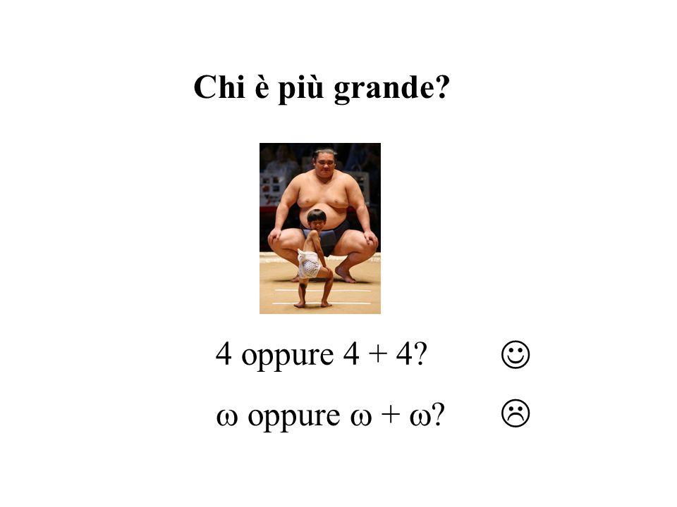 Chi è più grande? 4 oppure 4 + 4? oppure + ?