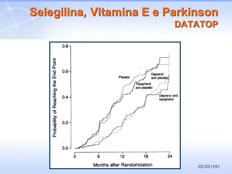 NEJM 1993 Selegilina, Vitamina E e Parkinson DATATOP