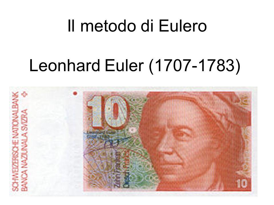 6 Il metodo di Eulero Leonhard Euler (1707-1783)