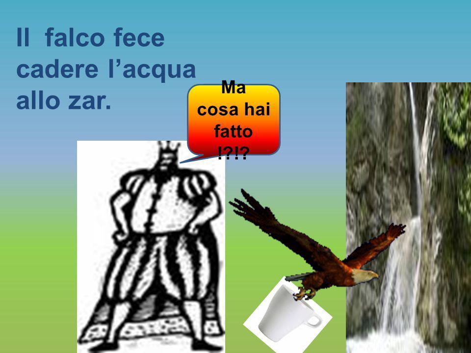 Il falco, incorreggibile, gli impedì nuovamente di bere.