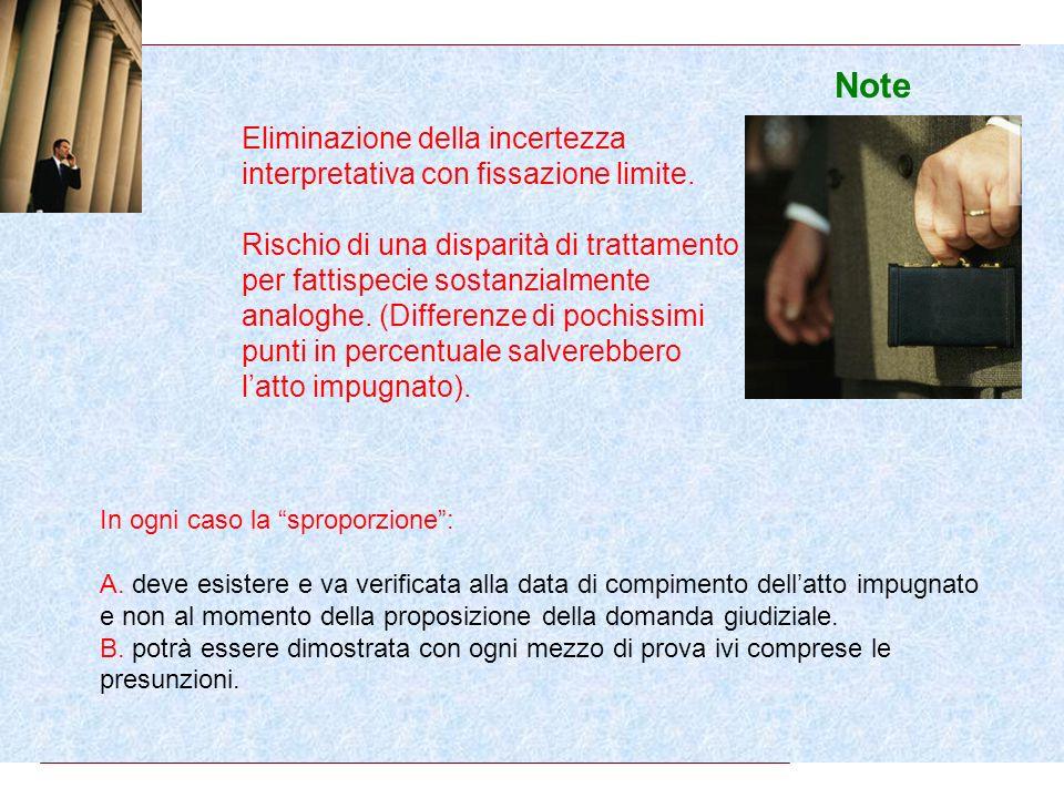 Novità 1.dimezzati i periodi sospetti. 2.