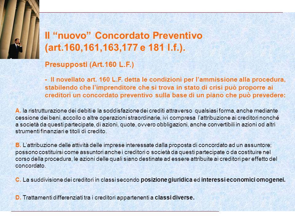 Il CONCORDATO PREVENTIVO E ACCORDI STRAGIUDIZIALI DI RISTRUTTURAZIONE DEL DEBITO