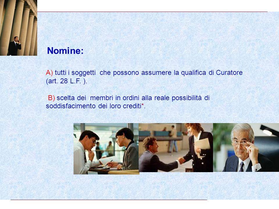 Il comitato dei creditori (art.40 L.F.).