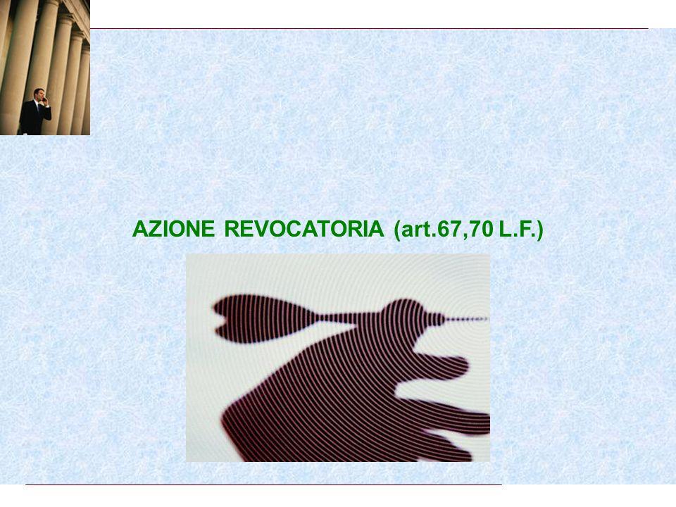AZIONE REVOCATORIA (art.67,70 L.F.)