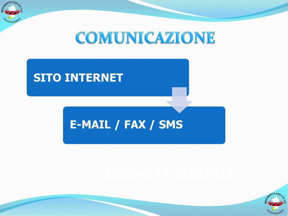 SITO INTERNET E-MAIL / FAX / SMS ASSEMBLEA GENERALE