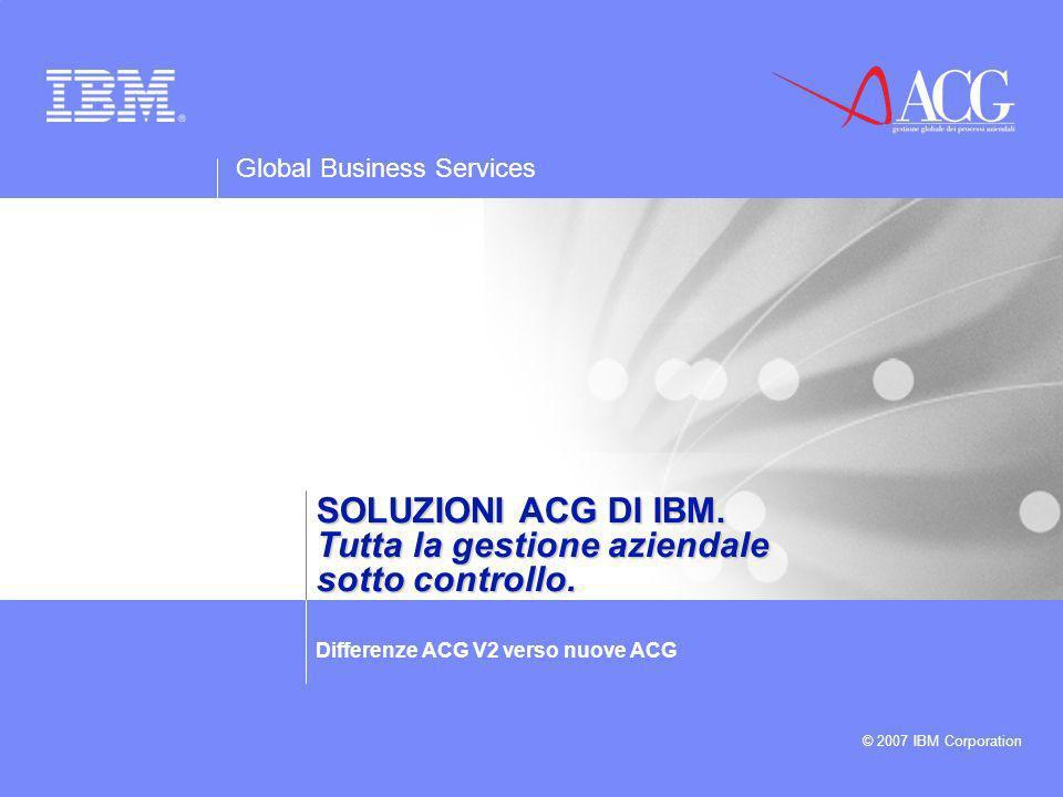Global Business Services © 2007 IBM Corporation 12 Soluzioni ACG di IBM.