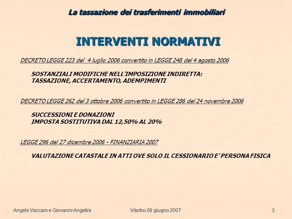 Angelo Vaccaro e Giovanni AngeliniViterbo 08 giugno 2007 34 ULTERIORI CASI Risoluzione 122/E del 01 giugno 2007 Quesito: mutuo superiore al corrispettivo in quanto parte delle somme sono destinate a ristrutturazione.