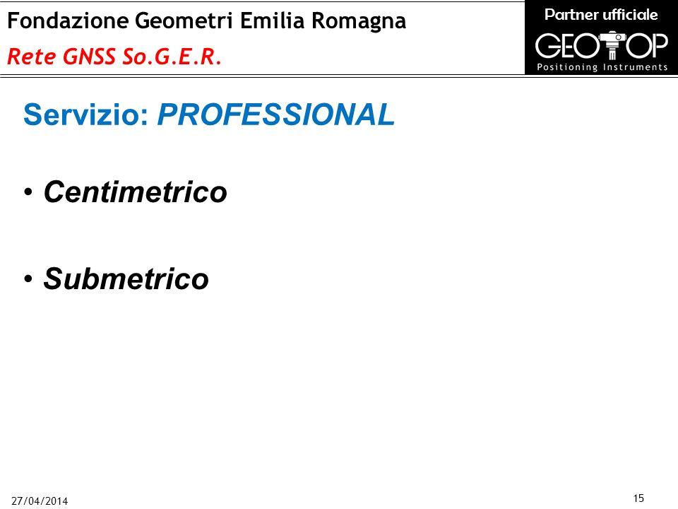 27/04/2014 15 Fondazione Geometri Emilia Romagna Rete GNSS So.G.E.R.