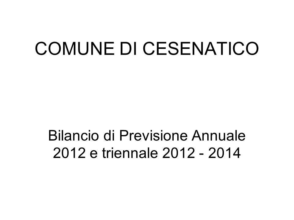 COMUNE DI CESENATICO Bilancio di Previsione Annuale 2012 e triennale 2012 - 2014