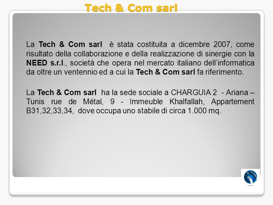 La Tech & Com sarl è stata costituita a dicembre 2007, come risultato della collaborazione e della realizzazione di sinergie con la NEED s.r.l., socie