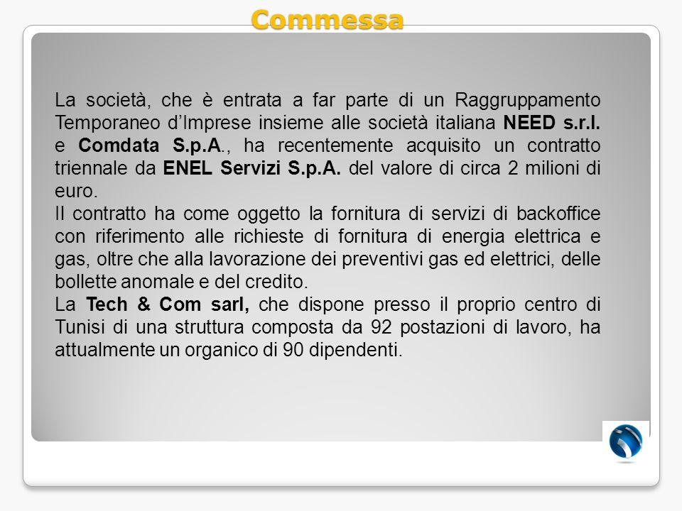 La società, che è entrata a far parte di un Raggruppamento Temporaneo dImprese insieme alle società italiana NEED s.r.l. e Comdata S.p.A., ha recentem