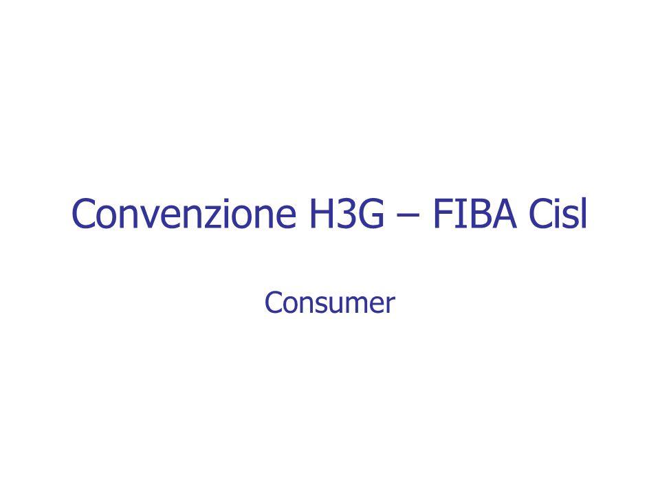 Convenzione H3G – FIBA Cisl A chi si rivolge: A tutti gli Iscritti al Sindacato FIBA Cisl ed ai suoi familiari.