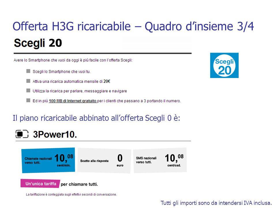 Offerta H3G ricaricabile – Quadro dinsieme 4/4 Tutti gli importi sono da intendersi IVA inclusa.