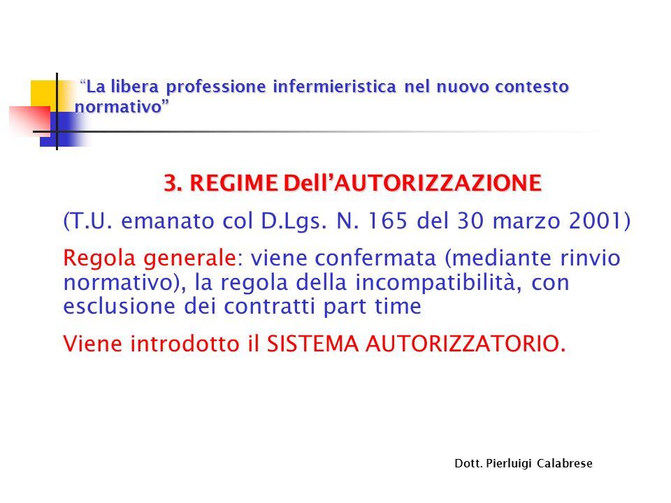 La libera professione infermieristica nel nuovo contesto normativo La libera professione infermieristica nel nuovo contesto normativo 3. REGIME DellAU
