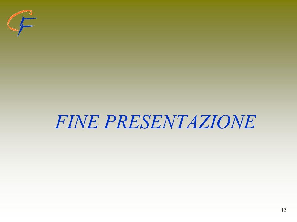 FINE PRESENTAZIONE 43