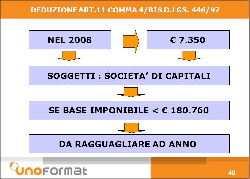 DEDUZIONE ART.11 COMMA 4/BIS D.LGS.